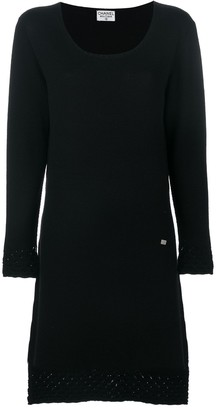 Chanel Pre Owned Scoop Neck Knitted Dress