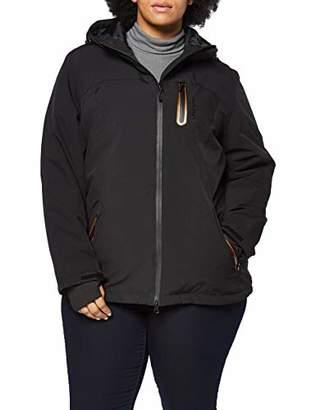 Ulla Popken Women's Funktionsjacke Metaldetails Rain Jacket,20