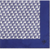 Canali Arrowhead print silk pocket square