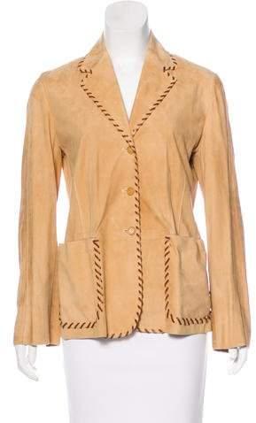 Beretta Leather Whip-Stitch Jacket