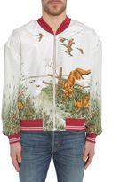 Maison Margiela Printed Silk Bomber Jacket