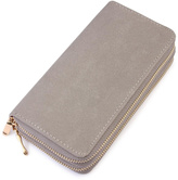 Riah Fashion Grey Faux Suede Wallet