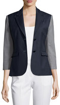 ATM Anthony Thomas Melillo Square-Front Sport Blazer, Navy/Gray