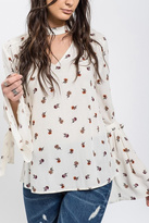 Blu Pepper Floral Bell-Sleeve Tunic