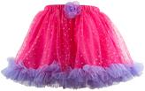 Fuchsia & Purple Tulle Ruffle Flower Tutu - Toddler & Girls