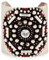 Dannijo Santiago Geometric Wide Cuff Bracelet, Matte Red