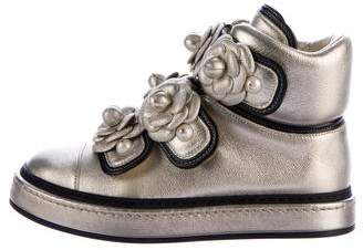 Chanel 2016 Camellia Pearl Sneakers w/ Tags