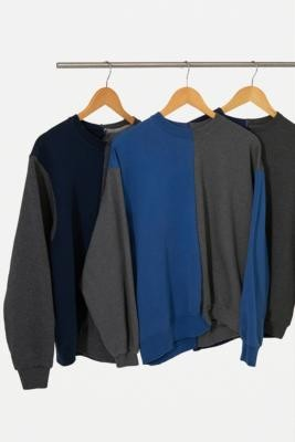 Urban Renewal Vintage Remade From Vintage Blue and Grey Spliced Sweatshirt - Assorted XS/S at Urban Outfitters