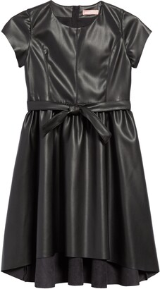 BCBG Girls Faux Leather High/Low Dress