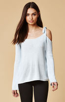 Honey Punch Cold Shoulder Sweater Top