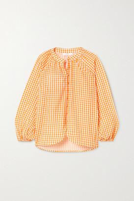 Peony Swimwear Net Sustain Gingham Organic Cotton And Ecovero-blend Blouse