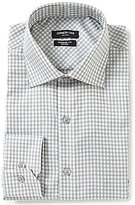 Kenneth Cole New York Non-Iron Regular Full-Fit Spread Collar Checked Dress Shirt
