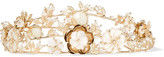 Rosantica Vanusita Gold-tone Mother-of-pearl Headpiece - one size