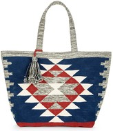 Sole Society Rees Tribal Print Oversize Tote