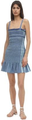 Cecilie Copenhagen Judith Smocked Cotton Mini Dress