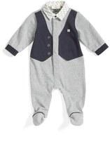 Armani Junior Faux Vest Footie (Baby Boys)