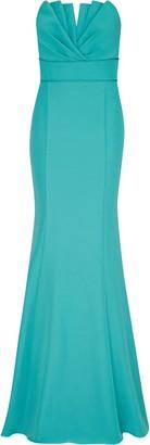 Aidan Mattox Strapless Mermaid Gown