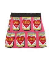 Dolce & Gabbana Amore Soup Silk-Stretch Skirt, Size 2-6