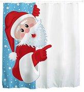 Bathroom Shower Curtain, Kingfansion Christmas Kids Waterproof Polyester Bathroom Shower Curtain Decor With Hooks (# 12)