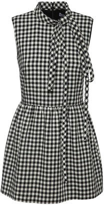 RED Valentino Gingham Cotton Blend Playsuit