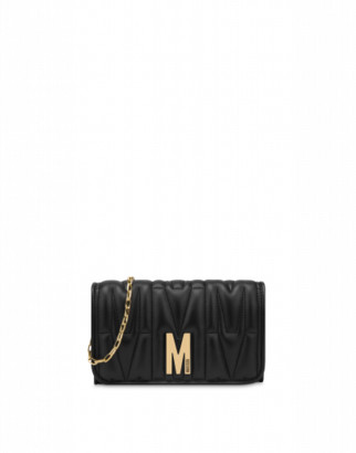 Moschino M Quilted Shoulder Bag Woman Black Size U It - (one Size Us)