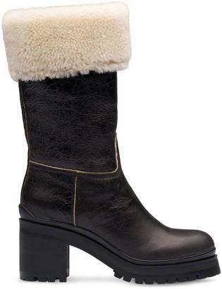 Miu Miu sheepskin boots