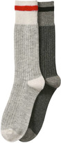 Joe Fresh Men's 2 Pack Crew Socks, Grey (Size 10-13)