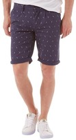 Bellfield Mens Printed Chino Shorts Navy