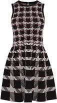 Karen Millen Graphic Houndstooth Dress - Black/multi