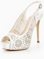 Moda In Pelle Korral Wedding Laser Cut Peep Sling Back Shoe