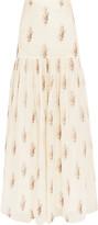 Vilshenko Printed silk-twill maxi skirt