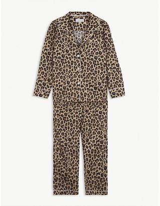 Little Yolke Leopard-print cotton pyjama set 3-12 years