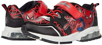 Favorite Characters Spidermantm Lighted Athletic SPF380 (Toddler/Little Kid) (Red) Boy's Shoes