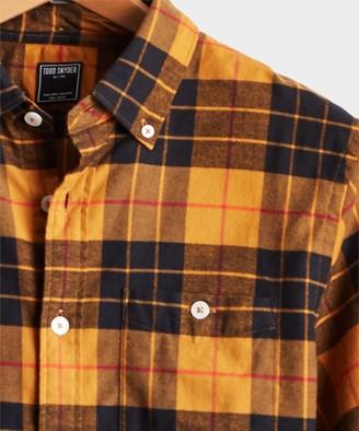 Todd Snyder Scotch Plaid Flannel Shirt