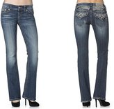 Miss Me Jeans Women's Special Edition Radiant Wings Insert Boot Cut Medium Wash