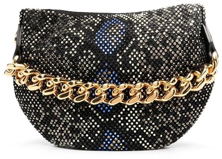 Versace Python-Pattern Studded Pouch