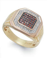 Macy's Men's Two-Tone Diamond Ring in 10k Gold (1/4 ct. t.w.)