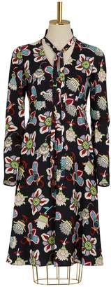Valentino Flower Pop long sleeves dress