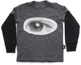 Nununu Youth Boy's Eye Patch T-Shirt - Charcoal