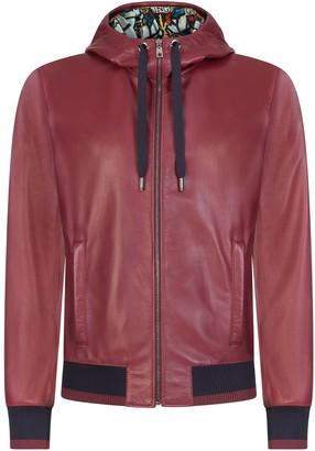 Dolce & Gabbana Hooded Lambskin Jacket