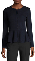 St. John Milano Pique Wool Peplum Jacket