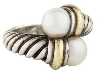 David Yurman Two-Tone Pearl Bypass Ring