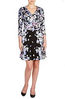 Peter Nygard Petite Floral Faux Wrap Dress
