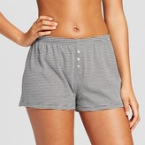 Women's Knit Pajama Short Black Stripe - Xhilaration
