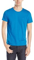 HUGO BOSS BOSS Green Men's Slim Fit Jersey Crew-Neck T-Shirt with Chest Logo
