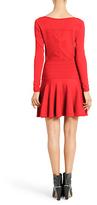 Diane von Furstenberg Delta Knit Dress In Electric Crimson