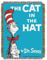 Dr. Seuss Dr. SeussTM Cat Book Cover Woven Tapestry Throw Blanket
