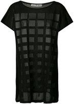 Issey Miyake grid tulle tunic - women - Cotton - 2