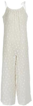 Mansur Gavriel Floral embroidered linen jumpsuit