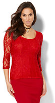 New York & Co. Lace Corset Top